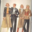 BUTTERICK PATTERN 5565 MISSES' JACKET, SKIRT, PANTS SZ 12 UNCUT