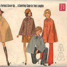 BUTTERICK PATTERN 5444 MISSES' CAPE IN TWO VERSIONS SIZE MEDIUM 12-14