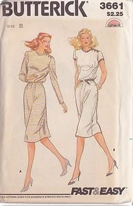 BUTTERICK PATTERN 3661 MISSES' DRESS IN 2 VARIATIONS SIZES 10-12-14 UNCUT