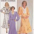 BUTTERICK PATTERN 3654 MISSES' DAVID WARREN DESIGNED DRESS SIZES 8 & 10