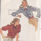 BUTTERICK PATTERN 3439 MISSES' BLOUSE 2 VARIATIONS SZ 12 UNCUT