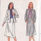 BUTTERICK PATTERN 3013 MISSES' JACKET AND SKIRT SIZE 12 UNCUT