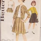 BUTTERICK PATTERN 2372 GIRLS' OVERBLOUSE, JACKET AND SKIRT SIZE 8