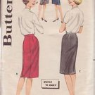 BUTTERICK PATTERN 2115 MISSES' SKIRTS IN 4 VARIATIONS SIZE 26 WAIST