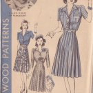 HOLLYWOOD PATTERN 652 MISSES' DRESS IN 2 VARIATIONS SIZE 16 ELLEN DREW