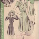 HOLLYWOOD PATTERN 616 MISSES' DRESS IN 2 VARIATIONS SIZE 18 LINDA HAYES