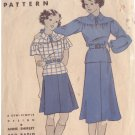 HOLLYWOOD PATTERN 980 GIRL'S 2 PIECE FROCK SIZE 10 IN 2 VARIATIONS