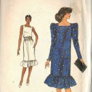 VOGUE 8261 PATTERN MISSES' DRESS with FLOUNCED BOTTOM TWO VERSIONS SIZE 6/8/10