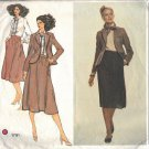 VOGUE 1791 MISSES JACKET, BLOUSE & SKIRT PATTERN by CALVIN KLEIN 1990'S SZ 12