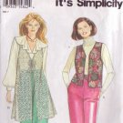SIMPLICITY PATTERN 9136 MISSES' VEST IN 2 LENGTHS SIZE XS 6-8