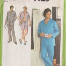SIMPLICITY PATTERN 9125 MEN'S PAJAMAS IN TWO LENGTHS, 2 VARIATIONS SIZE 42-44