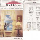 SIMPLICITY PATTERN 8996 CURTIANS AND SWAGS IN 9 VARIATIONS