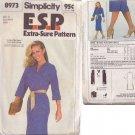 SIMPLICITY PATTERN 8973 MISSES' DRESS SIZES 12-14-16