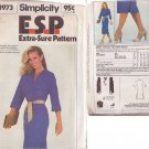 SIMPLICITY PATTERN 8973 MISSES' DRESS SIZE 10
