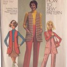 SIMPLICITY PATTERN 8917 MISSES' VEST, MINI-SKIRT, PANTS SIZE 12