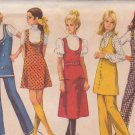 SIMPLICITY PATTERN 8904 MISSES' JUMPER IN 2 LENGTHS, TUNIC, PANTS SIZE 12