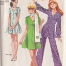 SIMPLICITY PATTERN 8881 MISSES' MINI-DRESS OR TUNIC, PANTS, SCARF SIZE 12