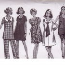SIMPLICITY PATTERN 8855 MISSES' MATERNITY PANTS, DRESS OR TUNIC SIZE 12