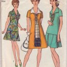 SIMPLICITY PATTERN 8844 MISSES' DRESS, OVERBLOUSE, SKIRT, SCARF SIZE 14