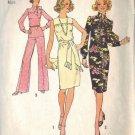 SIMPLICITY PATTERN 6851 dated 1974 MISSES' Chemise DRESS,TOP,PANTS,SCARF SZ 12