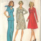 Simplicity Pattern 6557 dated 1974 misses dress, top, pants size 12