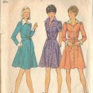 Simplicity Pattern 6554 dated 1974 misses dress in 3 variations in size 12