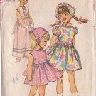 SIMPLICITY PATTERN 6474 CHILD'S 1-PIECE DRESS 2 LENGTHS, SCARF SIZE 6