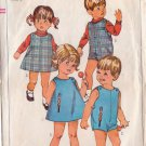 SIMPLICITY PATTERN 6473 TODDLERS' PLAYSUIT, DRESS OR JUMPER SIZE 1
