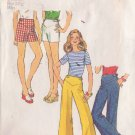 SIMPLICITY PATTERN 6171 MISSES' WIDE LEG PANTS AND SHORTS SIZE 10