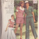 SIMPLICITY PATTERN 6165 MISSES' TOP, SHORTS, WIDE LEG PANTS SIZE 12