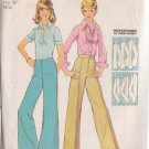 SIMPLICITY PATTERN 6108 MISSES' PROPORTIONED STRAIGHT LEG WIDE LEG PANTS SIZE 14
