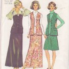SIMPLICITY PATTERN 6040 MISSES' SKIRT AND VEST SIZE 18 1/2 UNCUT