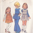 SIMPLICITY PATTERN 5937 CHILD'S JUMPER, TUNIC, BELL BOTTOM PANTS SIZE 6
