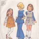 SIMPLICITY PATTERN 5937 CHILD'S JUMPER, TUNIC, BELL BOTTOM PANTS SIZE 4