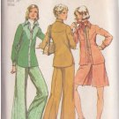 SIMPLICITY PATTERN 5931 MISSES' SHIRT-JACKET, SHORT PANTSKIRT, PANTS SIZE 12