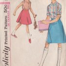 SIMPLICITY PATTERN 5296 GIRL'S SKIRTED SHORTS, BLOUSES IN 2 VARIATIONS SIZE 10