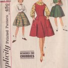 SIMPLICITY PATTERN 4088 CHUBBIE GIRLS' JUMPER, SKIRT, BLOUSE SIZE 14 1/2C