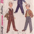 SIMPLICITY PATTERN 3990 CHILD'S VEST, JACKET AND TROUSERS SIZE 6