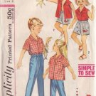 SIMPLICITY PATTERN 3944 CHILD'S SHIRT, BOXER SHORTS, PANTS TWINS SETS SIZE 3