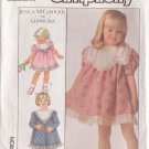 SIMPLICITY PATTERN  8991 TODDLERS' DRESS 2 VARIATIONS SIZE 2