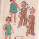 SIMPLICITY PATTERN  8811 TODDLERS' JUMPSUIT 2 LENGTHS SIZE 2