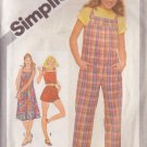 SIMPLICITY 9984 PATTERN DATED 1981 TEEN'S JUMPSUIT, SUNDRESS SIZE 11/12