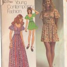 SIMPLICITY 9725 PATTERN DATED 1971 TEEN'S DRESS 2 LENGTHS SIZE 11/12