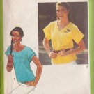 SIMPLICITY 9437 PATTERN DATED 1980 MISSES' PULLOVER TOPS IN SIZE16