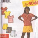SIMPLICITY 7547 PATTERN CHILD'S SKORTS AND KNIT TOP SIZES 3-12