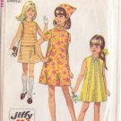 SIMPLICITY 7521 PATTERN CHILD'S JIFFY DRESS IN 2 VARIATIONS AND SCARF SZ 14