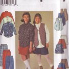 SIMPLICITY 7361 PATTERN CHILD'S SHIRT, VEST, SKIRT, PANTS, SHORTS SIZE 12 & 14