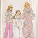 SIMPLICITY 7202 PATTERN CHILD'S ROBE, NIGHTGOWN, PAJAMAS SIZE 10 UNCUT