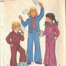 SIMPLICITY 6533 PATTERN 1974 CHILD'S UNLINED JACKET, BELL BOTTOM PANTS  SIZE 6