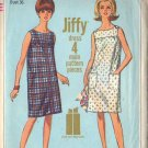 Simplicity 6531 dated1966 for a misses Jiffy Dress in 2 varaitions in a size 16